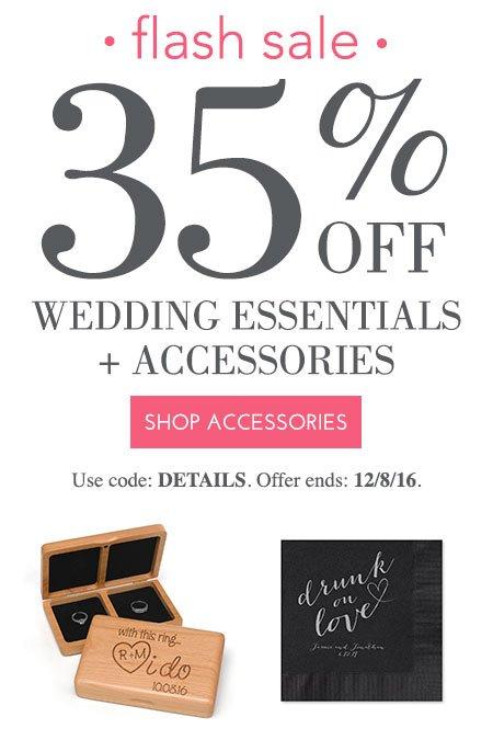 Flash Sale - 35% off Accessories