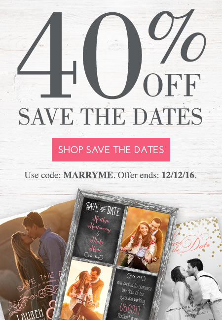 40% off Save the Dates