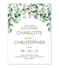 Sparkling Greenery - Invitation