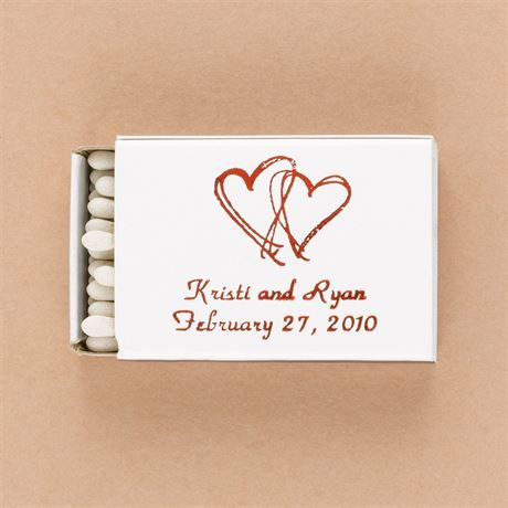 Personalized White Matchboxes