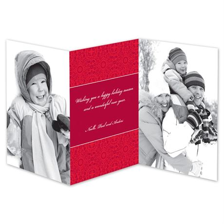 Bold Band Photo Holiday Card