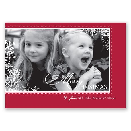 Snowflake Season Photo Christmas Card