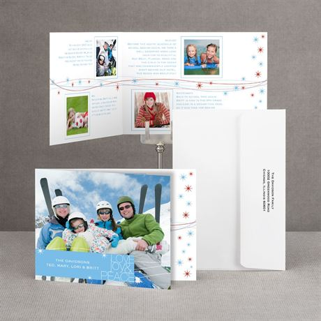 Starry Wishes Storyline Photo Holiday Card