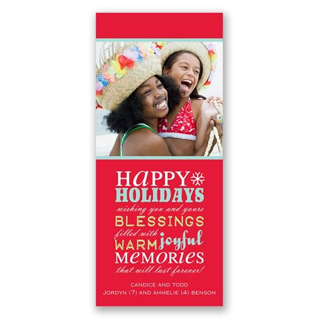Bountiful Wishes Photo Holiday Card