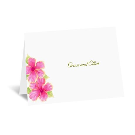 Tropical Hibiscus Thank You Card and Envelope