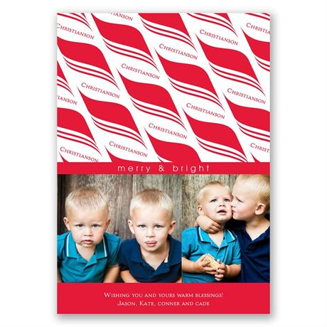 Candy Cane Photo Holiday Card