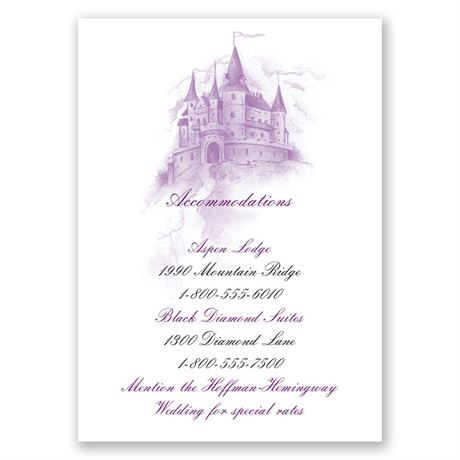 Magical Romance Accommodations Card