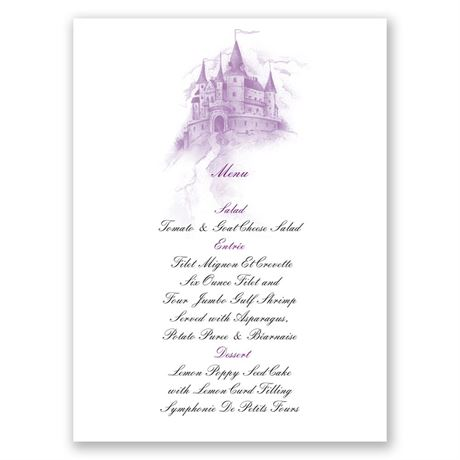 Magical Romance Menu Card