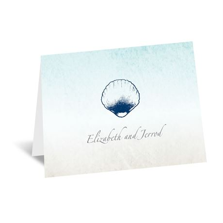 Beach Romance Thank You Card and Envelope