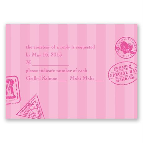 Passport to Romance Response Card