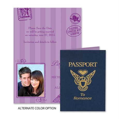 Passport to Romance - Save the Date Card