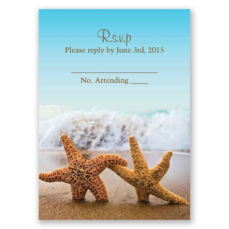 Starfish Response Card and Envelope