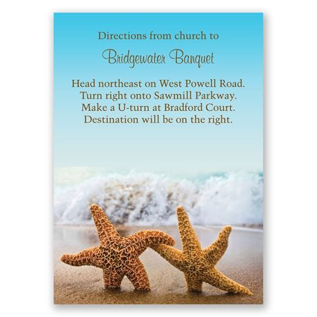 Starfish Map Card