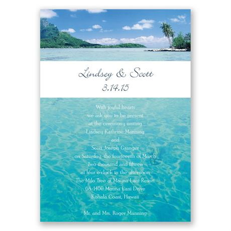 Sea of Love Invitation