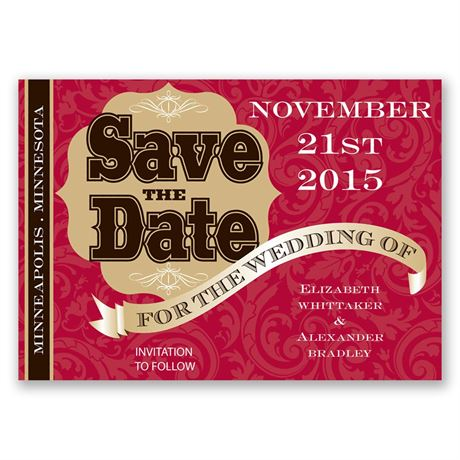 Poster Style Save the Date Magnet
