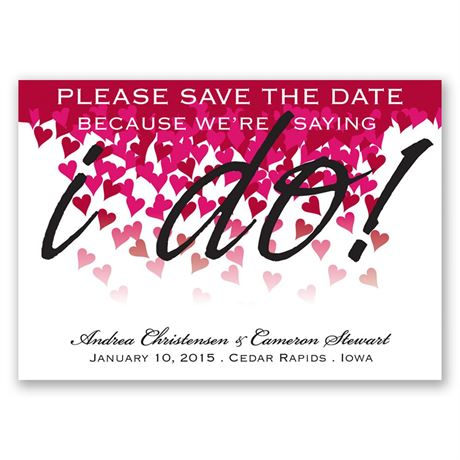 Heart Romance Save the Date Magnet