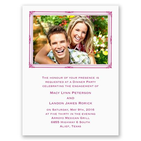 Photo Frame Petite Engagement Party Invitation