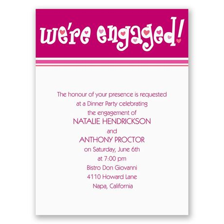 "We""re Engaged Petite Engagement Party Invitation"