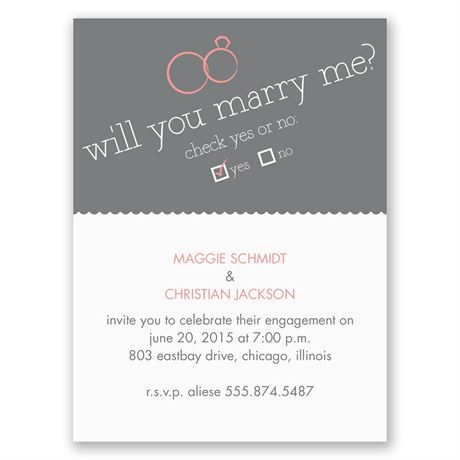 Will You Petite Engagement Party Invitation