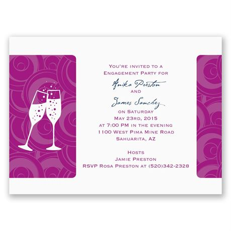 Bubbly Petite Engagement Party Invitation