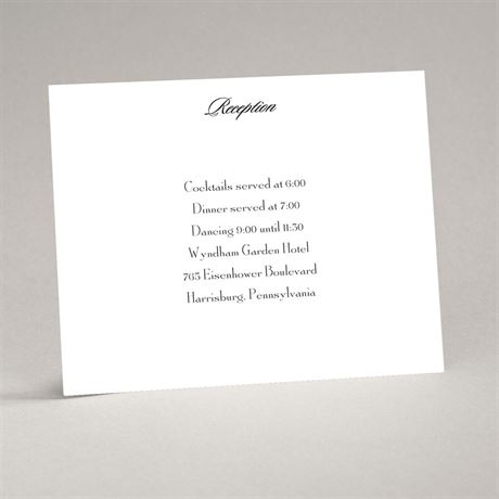 Bright White Reception Card Flat Printed