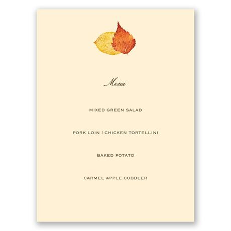 Touch of Autumn Menu Card