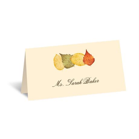 Touch of Autumn - Place Card