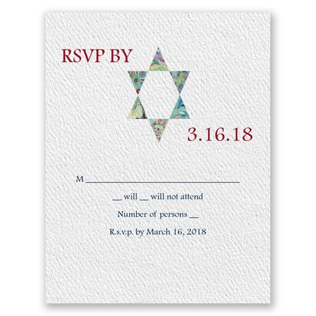 Star of David Devotion Response Card