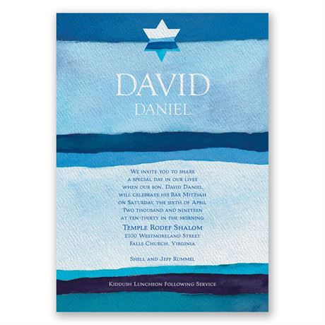 Peace Bar Mitzvah Invitation Invitations By Dawn