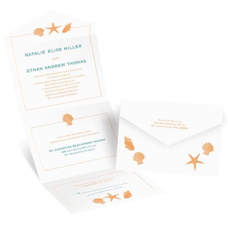 Lovely Shells - Seal and Send Invitation