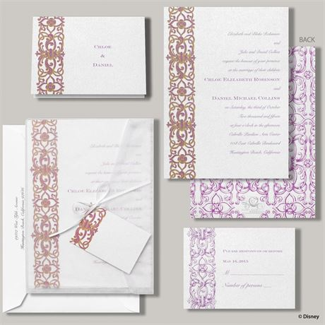 Disney Romantic Imagination Invitation Rapunzel
