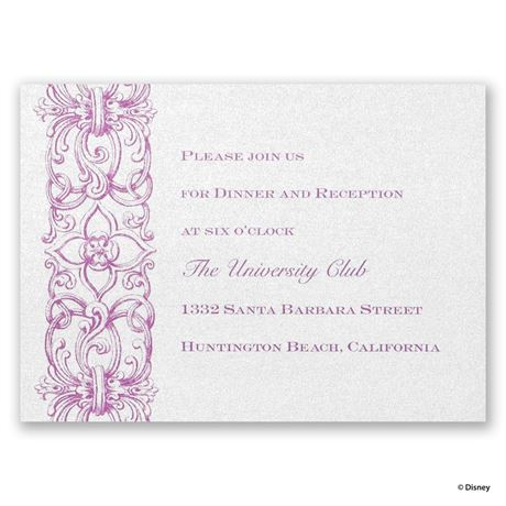 Disney Romantic Imagination Reception Card Rapunzel