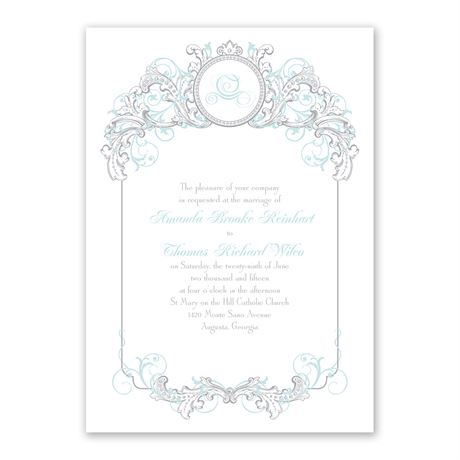 Disney Fairy Tale Filigree Invitation