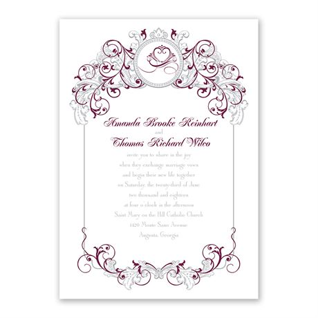 Disney Fairy Tale Filigree Invitation Anna