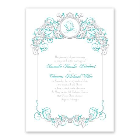 Disney Fairy Tale Filigree Invitation Ariel