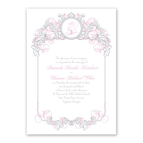 Disney Fairy Tale Filigree Invitation Aurora