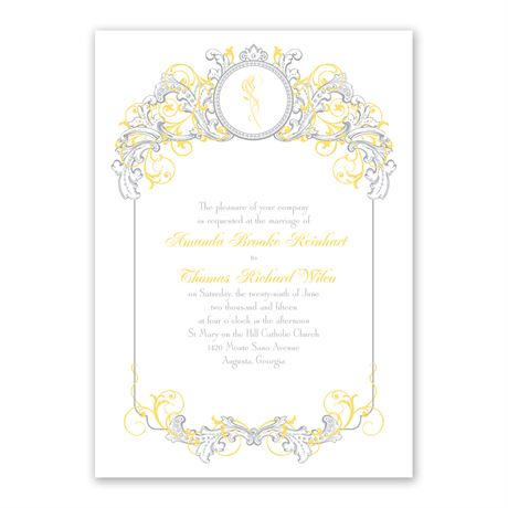 Disney - Fairy Tale Filigree Invitation - Belle
