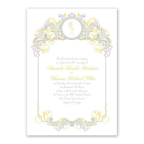 Disney Fairy Tale Filigree Invitation Belle