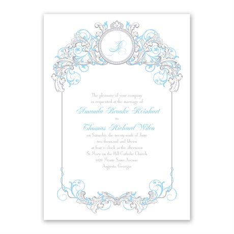 Disney Fairy Tale Filigree Invitation Cinderella