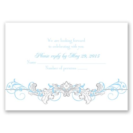 Disney Fairy Tale Filigree Response Card