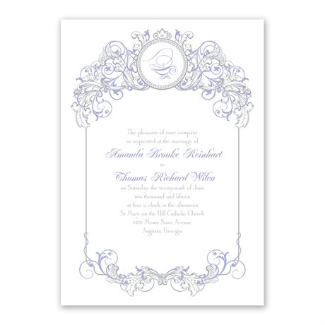 Disney Fairy Tale Filigree Invitation Jasmine