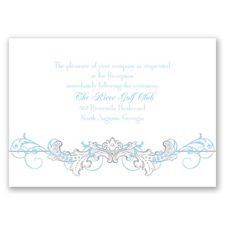 Disney Fairy Tale Filigree Reception Card