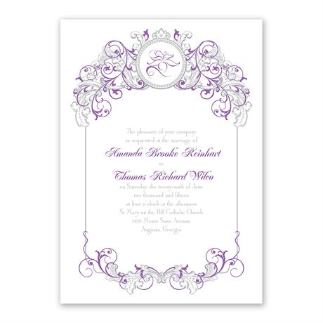 Disney Fairy Tale Filigree Invitation Rapunzel