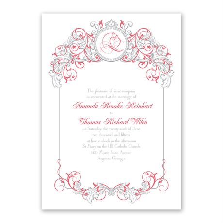 Disney Fairy Tale Filigree Invitation Snow White