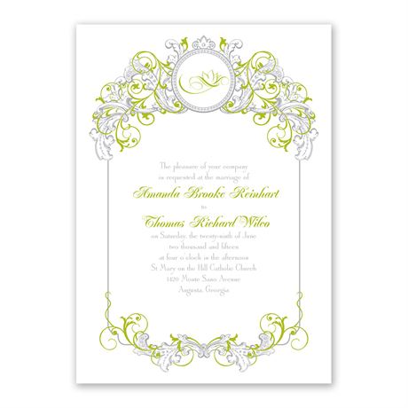 Disney Fairy Tale Filigree Invitation Tiana
