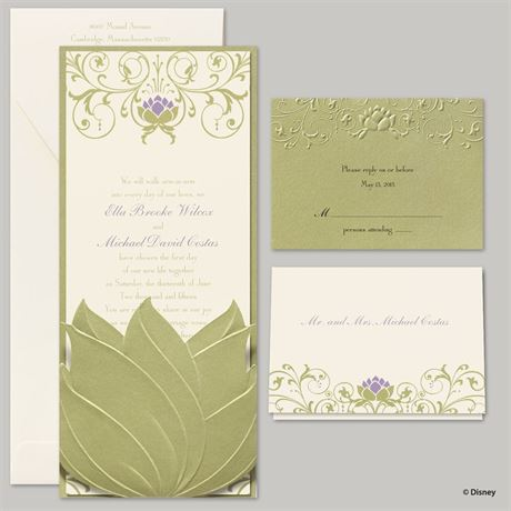 Disney Water Lily Invitation Tiana
