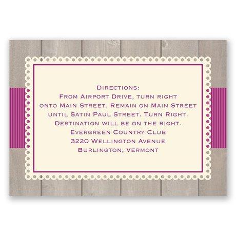 Rustic Fence - Ecru - Map Card