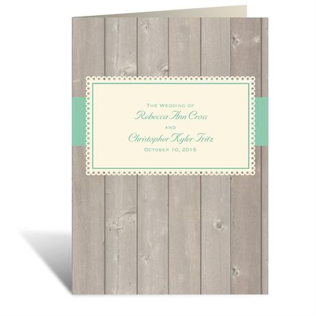 Rustic Fence - Ecru - Program