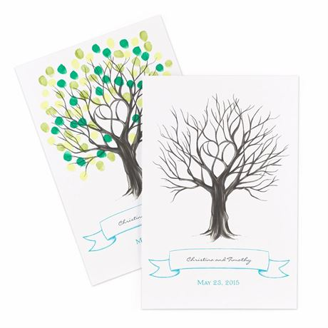 Thumbprint Tree Guest Signature Poster