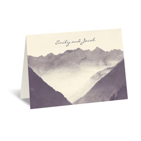 Mountain Mist - Ecru - Thank You Card and Envelope